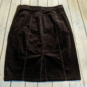 Ann Taylor Dark Brown Corduroy Skirt